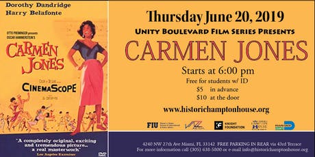 Unity Boulevard Film Series Presents CARMEN JONES (1954) tickets