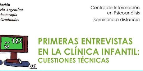 Primeras entrevistas en la clínica infantil: cuestiones técnicas entradas