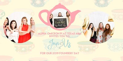 Founder's Day Tea - Alpha Omicron Pi at Texas A&M