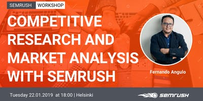 Meet SEMrush in Helsinki for a Digital Marketing Workshop.