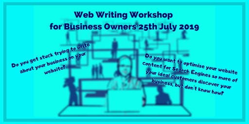 Website Writing- Workshop for Business Owners 11th July 2019
