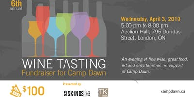 Wine Tasting - 6th annual in support of Camp Dawn