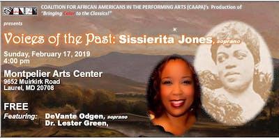 Voices of the Past: Sissiserita Jones Concert
