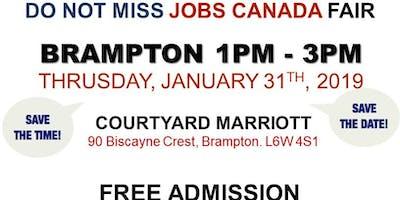 Free: Brampton Job Fair – January 31st, 2019