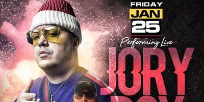 Jory Boy Performing LIVE Friday 1/25 at SLLounge *FREE Admission on list until 12am