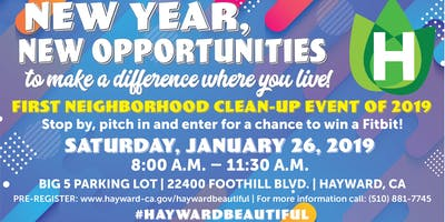 First Neighborhood Clean-up Event of 2019