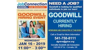 Goodwill is Hiring! - Corvallis - 1/16/19