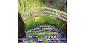 Garden Bridge By Monet Paint & Sip Night - Art...