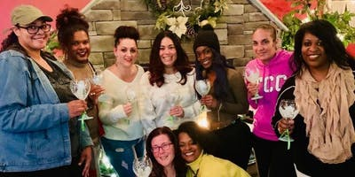 Wine Glass Painting Class at Delish Lounge 1/25 at 6:30PM