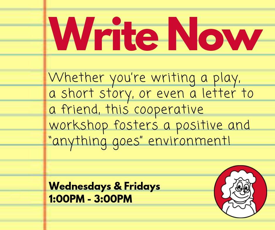 Aunt Bessi Drop-In: Write Now Fridays