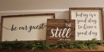 First Moms: Sign Painting Party