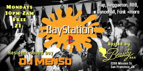 BayStation: Free Rap & Reggaeton Party Mondays @Beauty Bar tickets