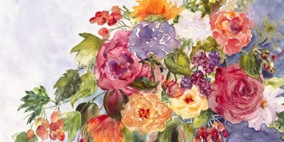 Flowers in Watercolor and Mixed Media with Kris Woodward