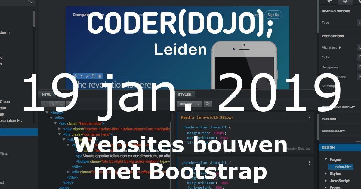 CoderDojo Leiden #56 | Websites bouwen met Bo