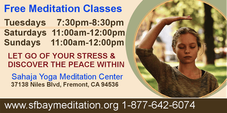 Sahaja Yoga Meditation - Free Meditation Classes in Fremont tickets