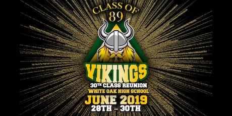 CLASS OF '89 WOHS VIKING 30TH REUNION tickets