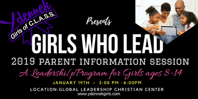 Girls Who Lead - 2019 Parent Info Session