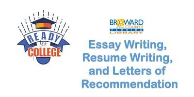 Essay Writing, Resume Writing and Letters of Recommendation @ Main Library