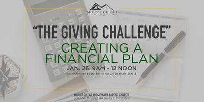 The Giving Challenge: Creating A Financial Plan