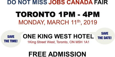 Free: Toronto Job Fair - March 11th, 2019