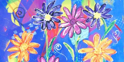 Acrylic mixed media painting workshop Toowoomba, by Crea8ive.