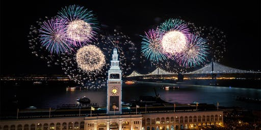 NYE 2020 - LIVE FIREWORKS ON THE EMBARCADERO - OPEN BAR