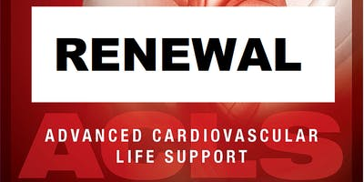 AHA ACLS Renewal July 29, 2019  (INCLUDES Provider Manual and FREE BLS!) from 9 AM to 3 PM at Saving American Hearts, Inc. 6165 Lehman Drive Suite 202 Colorado Springs, Colorado 80918.