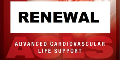 AHA ACLS Renewal August 3, 2019 (INCLUDES Provider Manual and FREE BLS!) from 9 AM to 3 PM at Saving American Hearts, Inc. 6165 Lehman Drive Suite 202 Colorado Springs, Colorado 80918.