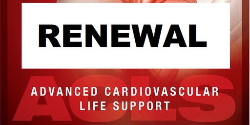 AHA ACLS Renewal November 27, 2019 (INCLUDES Provider Manual and FREE BLS!) from 9 AM to 3 PM at Saving American Hearts, Inc. 6165 Lehman Drive Suite 202 Colorado Springs, Colorado 80918.
