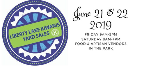 Liberty Lake Kiwanis Community Yard Sales 2019