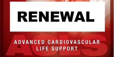 AHA ACLS Renewal August 5, 2019  (INCLUDES Provider Manual and FREE BLS!) from 9 AM to 3 PM at Saving American Hearts, Inc. 6165 Lehman Drive Suite 202 Colorado Springs, Colorado 80918.