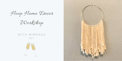 Hoop Wall Hanging Home decor w/Mimosas