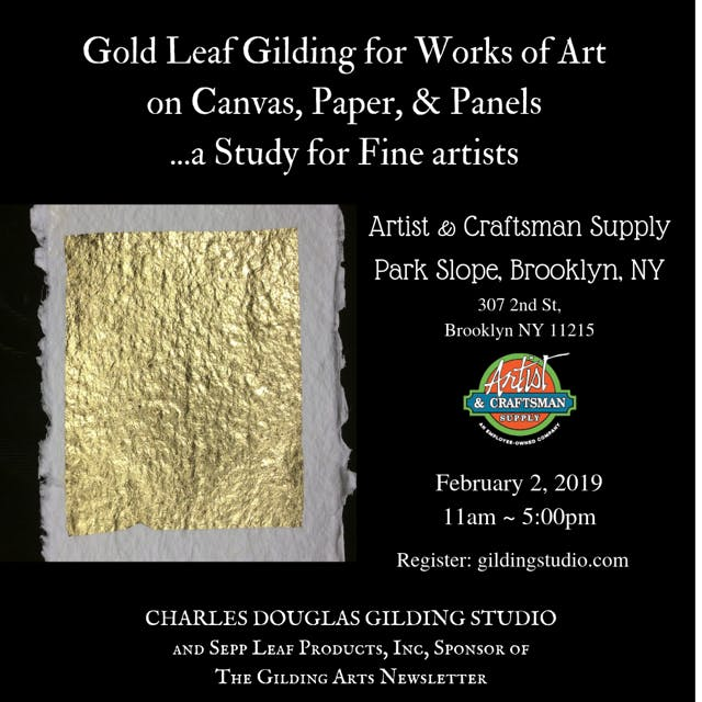 Gilding Class For Works Of Art On Canvas Paper Panels A Study