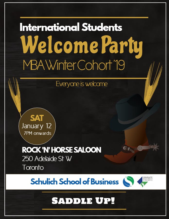 Welcome Party - Winter Cohort