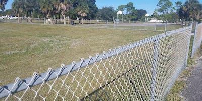 Melbourne community dog park build at Southwest Park, 400 W Florida Avenue