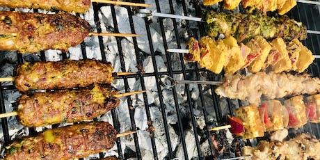 Indian Inspired BBQ Class teaching veg & non veg starters/dips on the bbq tickets