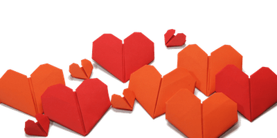 Celebrate Library Lovers Day and make origami heart bookmarks