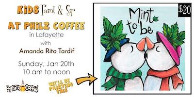 Kids/Tweens Paint & Sip at Philz Coffee in Lafayette (Jan 20)