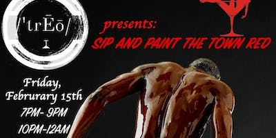 /'trĒō/ presents: PAINT THE TOWN RED - 21+ Paint and Sip