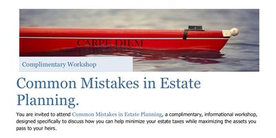 Seminar: Common Mistakes in Estate Planning