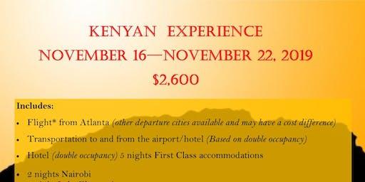 Kenyan Experience November 16 - 22, 2019