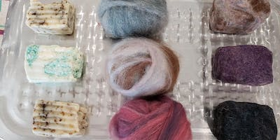 Crafting at the Barn:  Wet Felting Soap