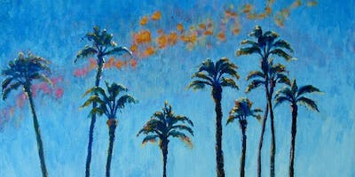 "Paint ""Palm Trees"" With Our Talented Artists At Art Time And Sip Wine Studios"