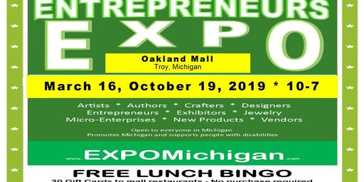 October 19, 2019, Entrepreneurs EXPO, center hall, Oakland Mall, Troy, MI