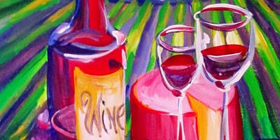 "Paint ""Starry Wine"" With Our Talented Artists At Art Time And Sip Wine Studios"