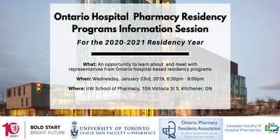 Ontario Hospital Pharmacy Residency Programs Information Session
