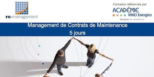 """PARIS - Formation """"Management de Contrats de Maintenance"""" (VINCI Energies) - 14 au 18 octobre 2019"""