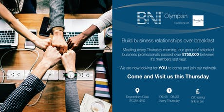 BNI Olympian - Business breakfast meeting tickets