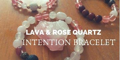 Love Yourself Lava Intention Bracelet & Essential Oil Blend (Make & Take)