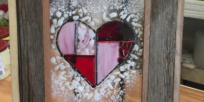 Faux Stained Glass Fused Heart